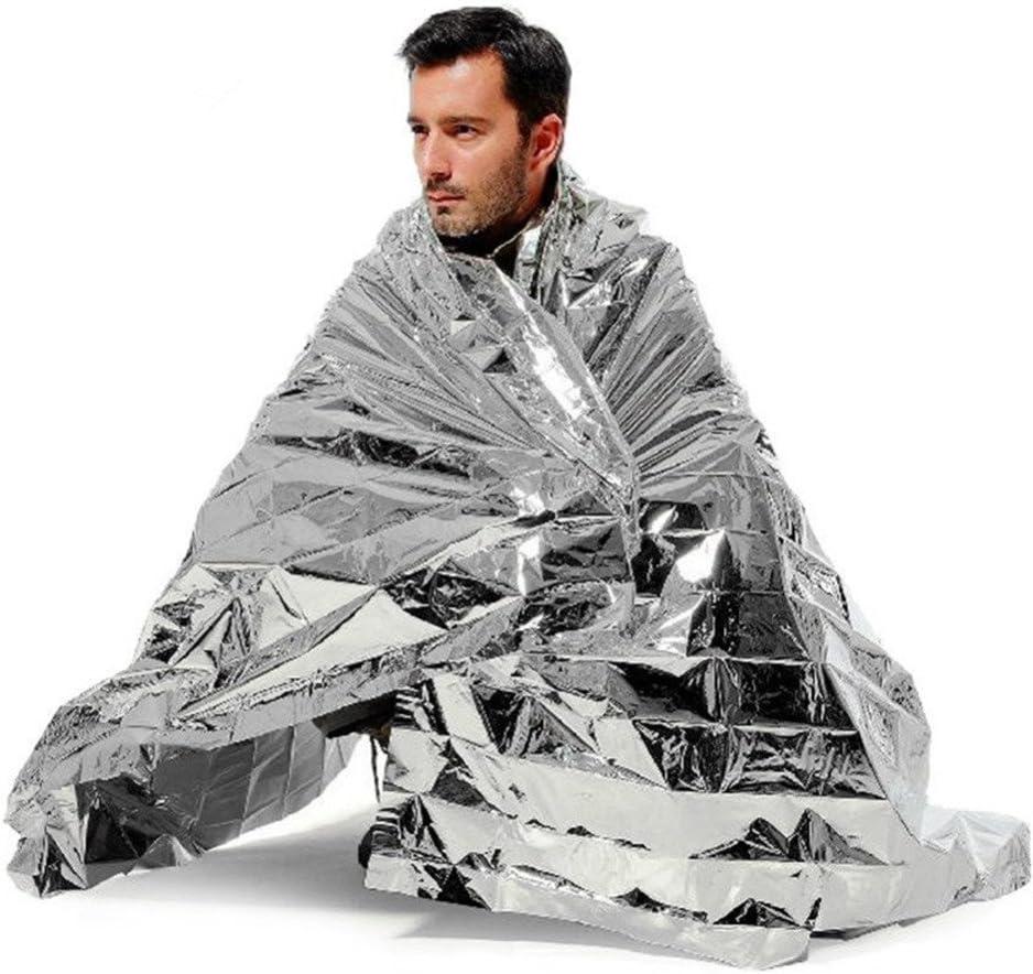 1PCS Camo Waterproof Emergency Survival Blanket Thermal Camping First K7Y1