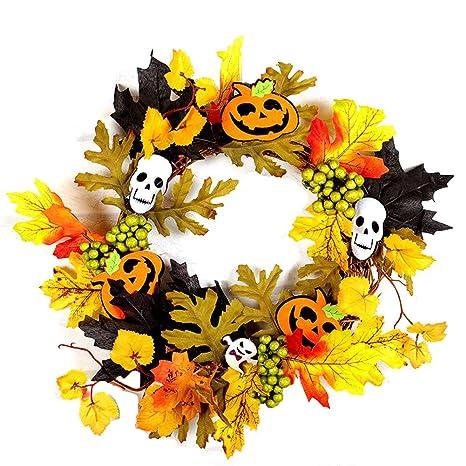 Ndier 1 Pcs Halloween Couronne Couronne De Feuilles Dérable Automne
