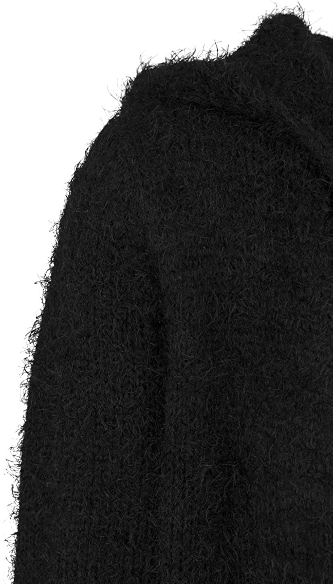 Urban Classics TB1750 Damen Strickjacke Ladies Hooded Feather Cardigan