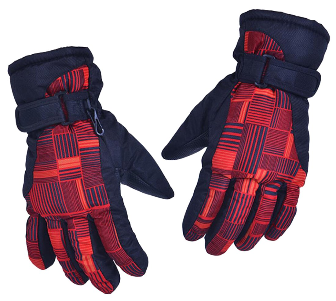 GAGA Men's Thick Winter Camping Windproof Ski Gloves 2 One Size