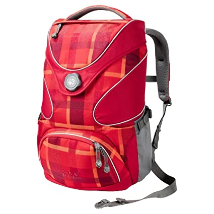 Jack Wolfskin Ramson Top 20 Pack Rucksack, Indian Red Woven Check