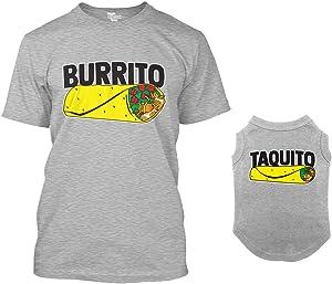 Burrito/Taquito Matching Dog Shirt & Owner T-Shirt