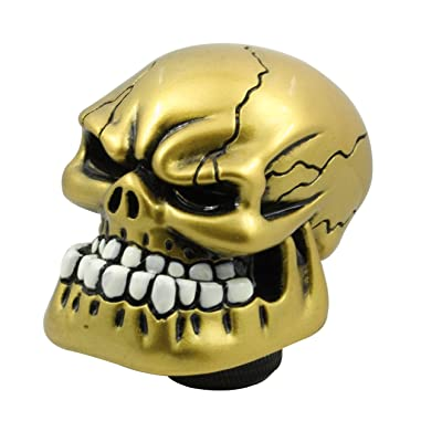 Mavota Gold Skull Manual Automatic Gear Shift Knobs: Automotive