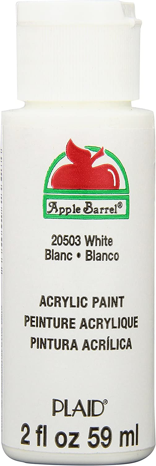 Apple Barrel Acrylic Paint in Assorted Colors (2 Ounce), 20503 White