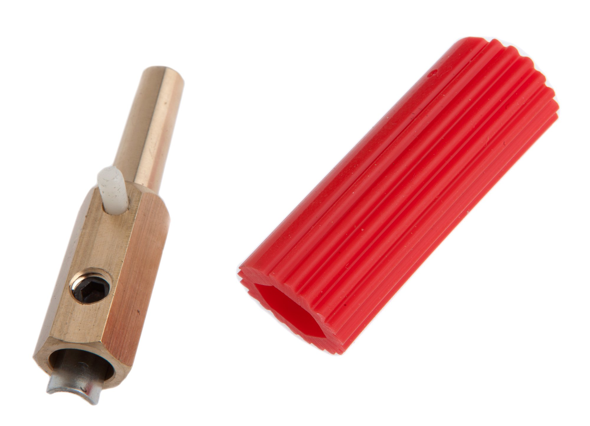 Forney 57902 Sure Grip Plug, Male Red Sleeve Fits C And F Model Welders