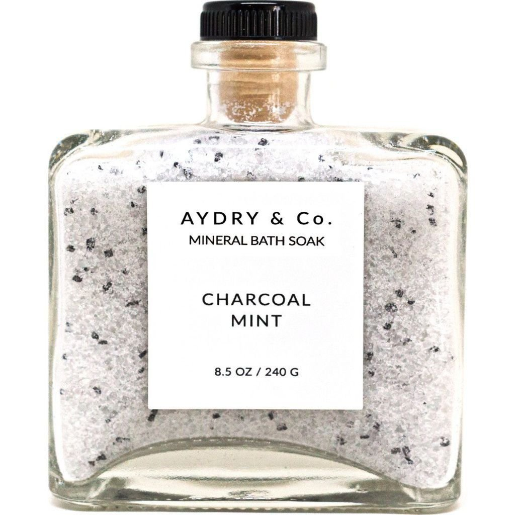 Ayu.Co 8.5oz Charcoal Mint Mineral Bath Soak, Cruelty Free and Made in USA in Small Batches (8.5oz, Charcoal Mint)