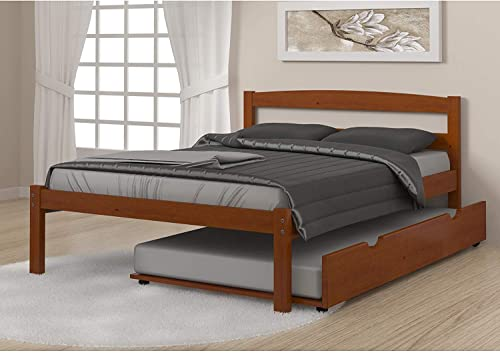 Donco Kids Econo Bed Light Espresso/Full/W/Twin Trundle Bed
