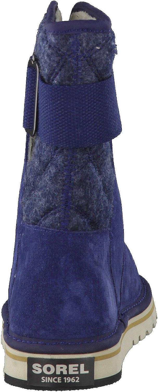 Sorel Newbie, Bottes Souples Femme Bleu Collegiate Navy Blanc Fossil