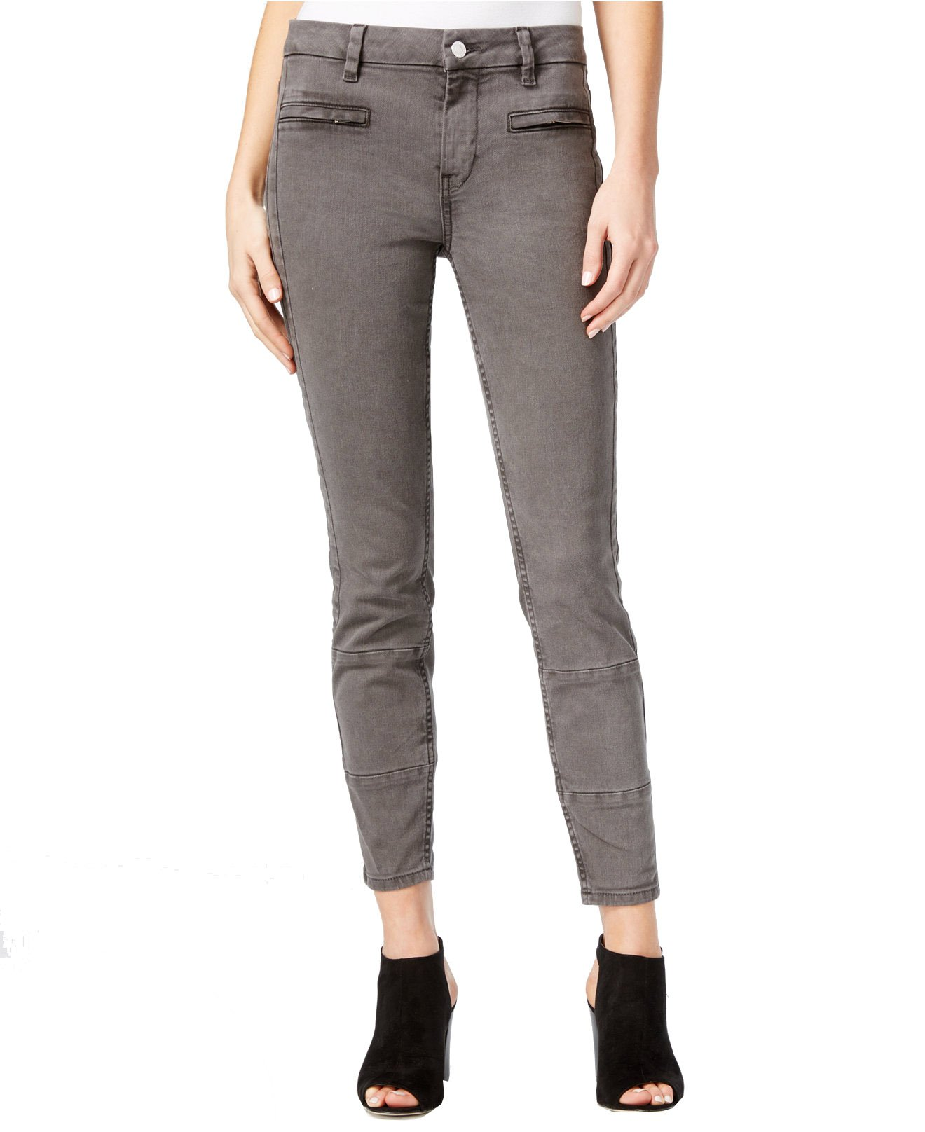 GUESS Women's almondine Overdye Wash Skinny Jeans (26, Lead Pipe)