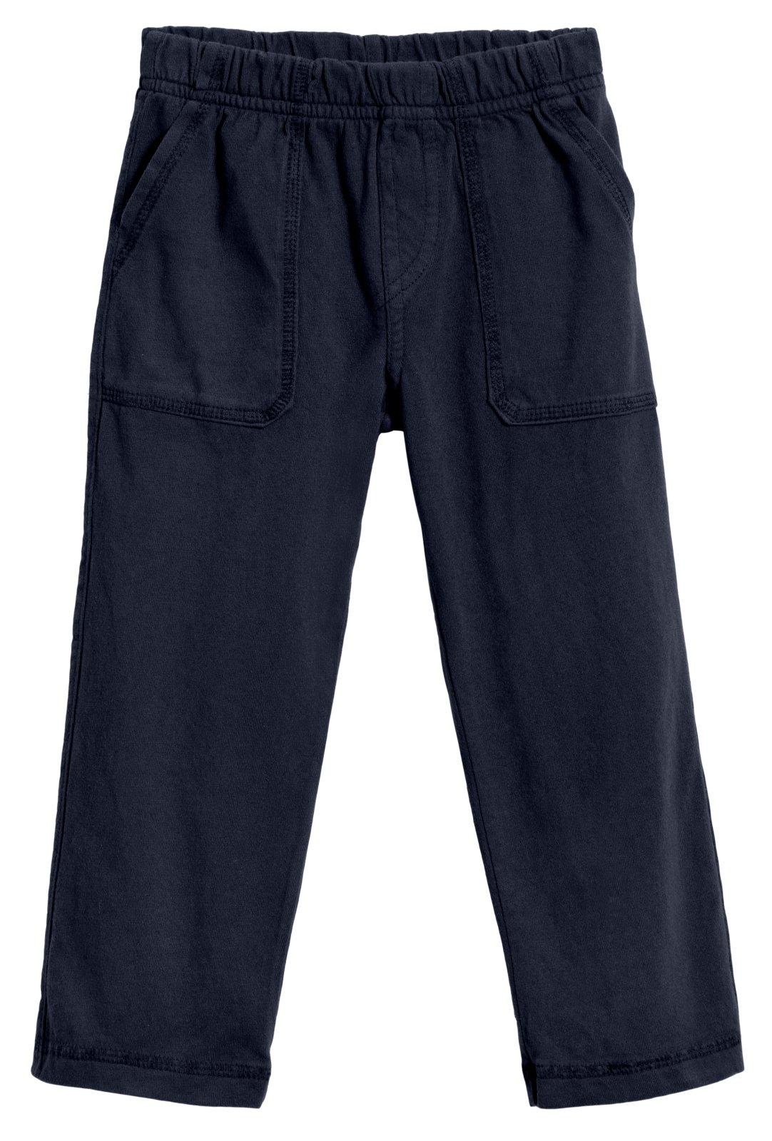 City Threads Big Boys' and Girls' Soft Jersey Tonal Stitch Pant Perfect for Sensitive Skin SPD Sensory Friendly Clothing - Dark Navy 12