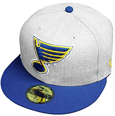 detailed look 65d3f 53e10 Amazon.com  New Era St. Louis Blues Heather Cap 59fifty 5950 Fitted Special  Limited Edition  Clothing