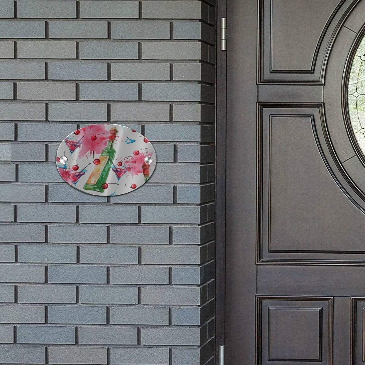 5.5x7.5 Inch MDF Spring Door Sign Summer Door Sign Retro Stylish Colorful Red Wine Cork Oval Farm Door Sign for Door Business Porch Home Indoor Decor