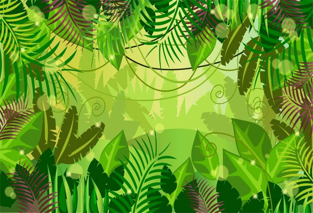 Yeele 10x8ft Tropical Photography Background Green Plant Forest Vine Jungle Palms Tree Summer Party Photo Backdrops Portrait Shooting Studio Props