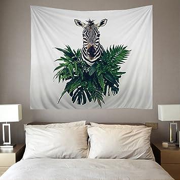 QCWN Set Für Wohnzimmer, Schlafzimmer Und Dorm Decor Zebra Print Einhorn An  Der Wand