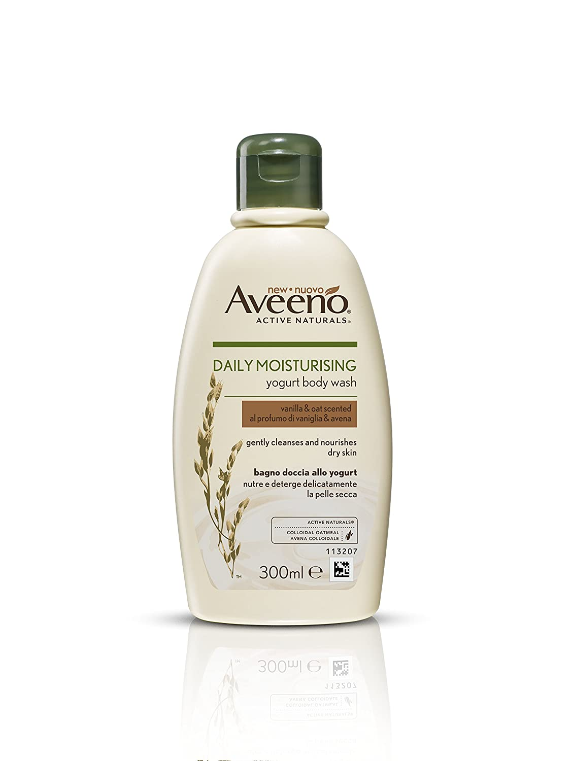 Aveeno Daily Moisturising Yogurt Body Wash, 300 ml, Vanilla and Oat Scented Johnson & Johnson 8954700