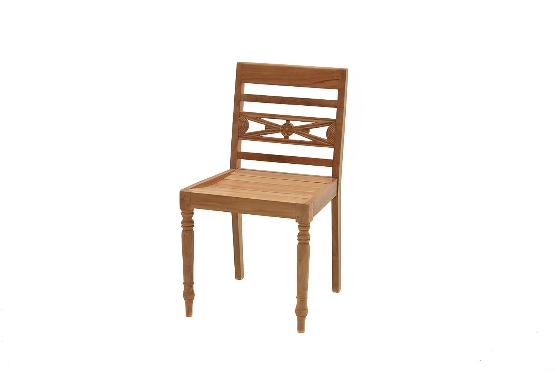 plo ornamentstuhl cambridge premium teakholz stuhl mit fsc zertifikat terrassenstuhl holz. Black Bedroom Furniture Sets. Home Design Ideas