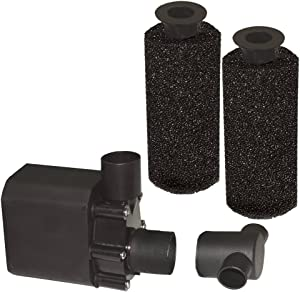 Beckett Corporation 1800 GPH Submersible Pond and Waterfall Pump with Filters - Water Pump for Indoor/Outdoor Ponds, Fountains, Fish Tanks, Aquariums, and Waterfalls - 16.3' Max Fountain Height, Black