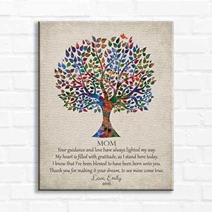Amazon com: 16x20 Mounted Canvas, Gift for Mother Poetry