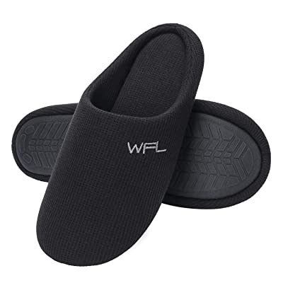 WFL Men Slipper Cozy Breathable Knitted Slippers for Men in Spring Men's Memory Foam Slippers Non-Slip House Shoes Indoor Outdoor... | Slippers