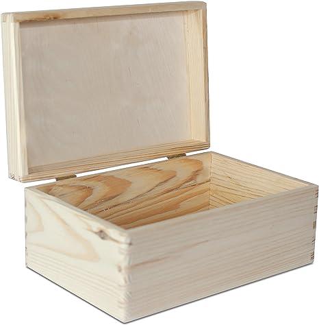 Creative Deco Grande Caja de Madera para Decorar con Tapa | 30 x 20 x 14 cm (+/-1cm) | Cofre Decoración Decoupage Almacenaje de Documentos, Objetos de Valor, Juguetes, Herramientas: Amazon.es: Hogar