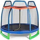 Giantex 7 Ft Kids Trampoline w/Safety Enclosure Net, Spring Pad, Zipper, Heavy Duty Steel Frame, Mini Trampoline for…