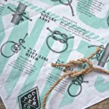 Colter Co. Know Your Knots Bandana, 100% cotton knots diagram survival bandana