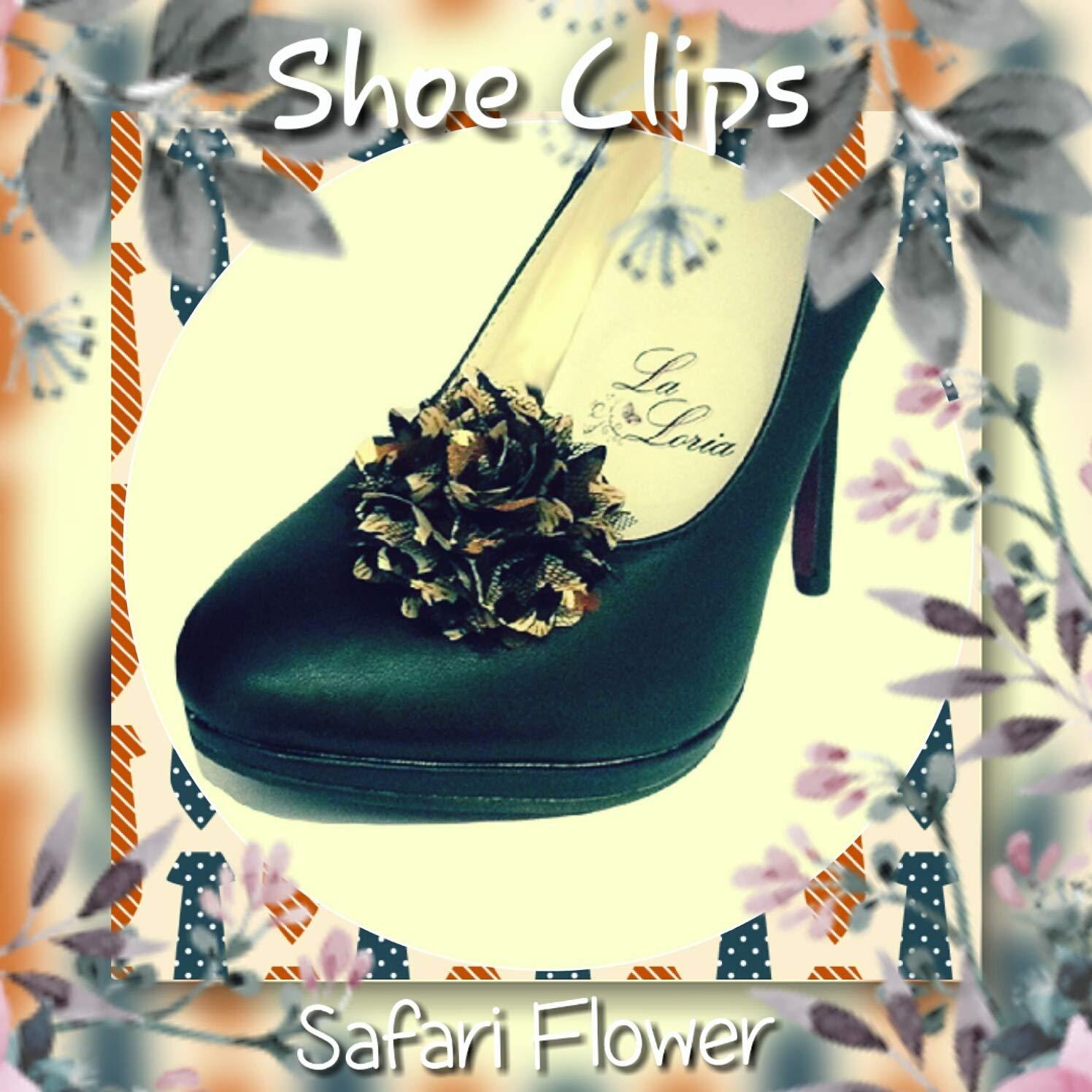 La Loria Donna 2 Clips Decorative Per Scarpe Safari Flower Gioielli Asportabile Clips Per Scarpe
