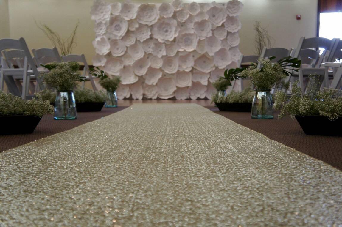 ShinyBeauty Sequin-Aisle-Runner-Matte Gold-65FTx4FT, Sequin Carpet Runner sparkle Wedding Aisles Floor Runner by ShinyBeauty