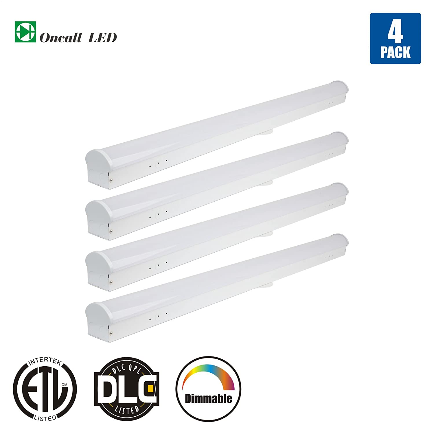Oncall Led 4ft Linear Light Commercial Shop Light 40w 200w Equiv