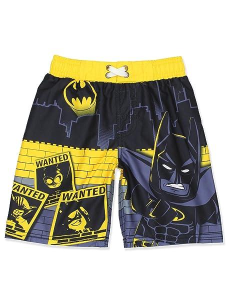 8fcb721664 Amazon.com: LEGO Batman Boys Swim Trunks Swimwear (7, Black/Yellow ...