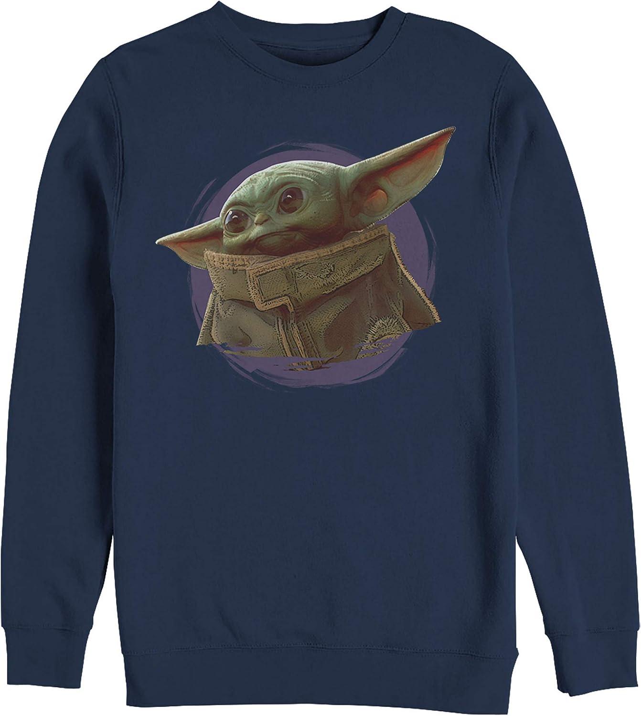 Star Wars The Mandalorian Mens The Child Circle Halo Sweatshirt