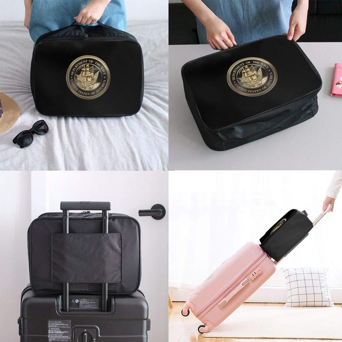 U S Navy Emblem Travel Carry Luggage Duffle Tote Bag