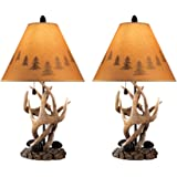 Signature Design by Ashley - Derek Antler Table Lamp - Mountain Style Shades - Rustic