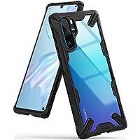 Ringke Funda Huawei P30 Pro, [Fusion-X] Transparente Ergonómico Protector TPU Back Claro PC [Protección contra Caídas de Grado Militar] La Tecnología de Absorción de Golpes Cover - Negro Black