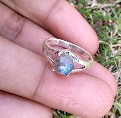 925 STERLING SILVER LABRADORITE PEAR RING FEBRUARY BRITHSTONE SIZE 6 TO 13