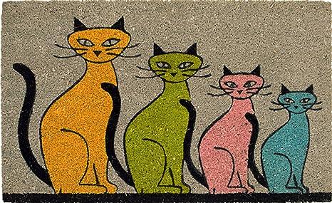 Felpudo cuatro gatos 45 x 75 cm