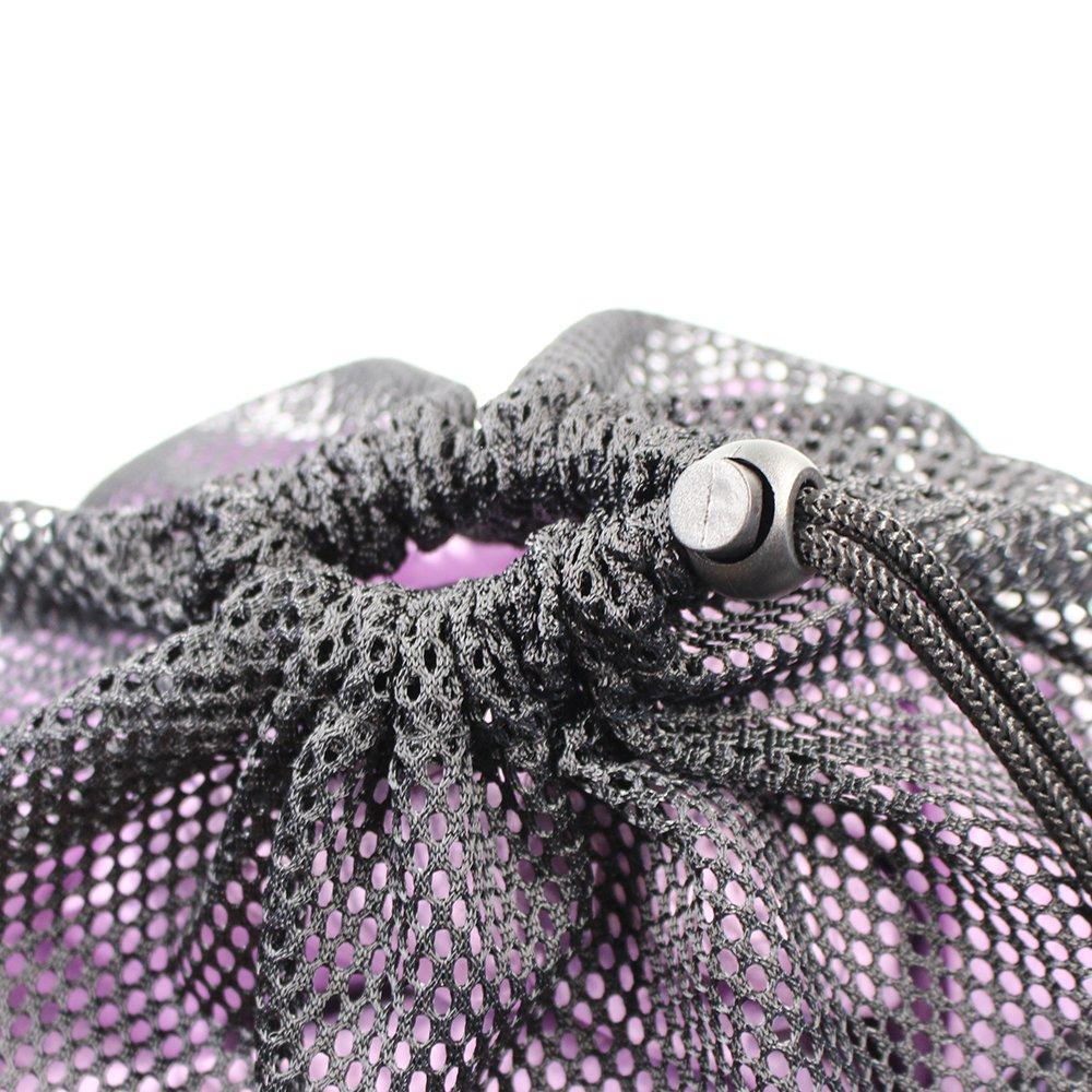 Erlvery DaMain 2pcs Mesh Equipment Bag Drawstring Storage Ditty Bags Stuff Sack for Travel & Outdoor Activity by Erlvery DaMain (Image #8)