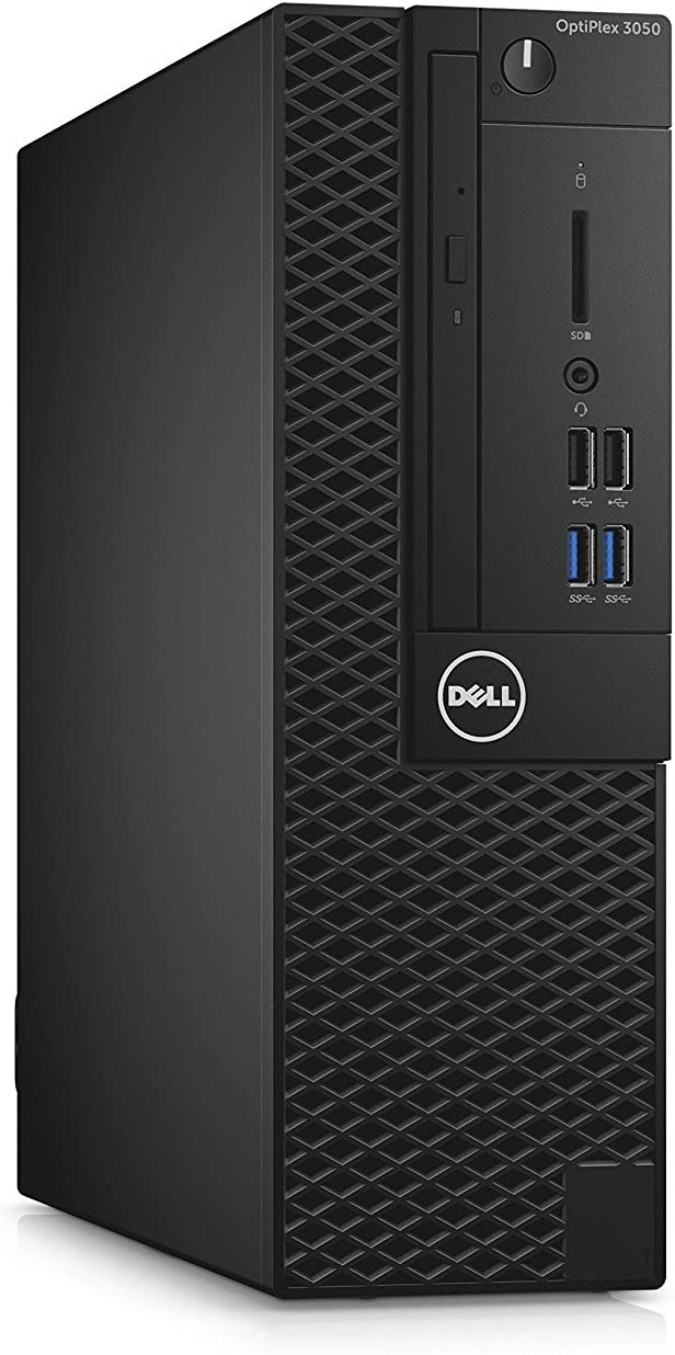 Dell OptiPlex 3050 Small Form Factor Business Desktop (Intel Core 7th Generation i3-7100, 8GB DDR4, 128GB SSD, DVD), Windows 10 Pro (Renewed)
