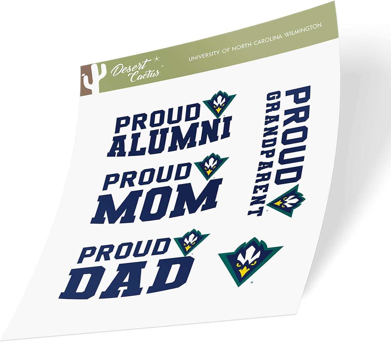 University of North Carolina Wilmington UNCW Seahawks NCAA Sticker Vinyl Decal Laptop Water Bottle Car Scrapbook (Family Full Sheet)