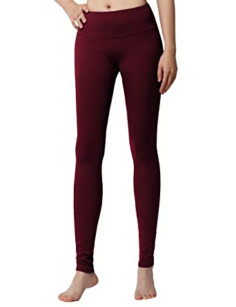 cabfe6354c3a0 YogaReflex - Yoga Pants for Women - Workout Yoga Leggings Pant - Hidden  Pocket (from XS to 2XL) - Red -: Amazon.co.uk: Clothing