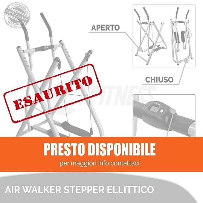 2 opinioni per OFFERTA AIR WALKER STEPPER ELLITTICO MULTIFUNZIONE HOME FITNESS CON DISPLAY LCD