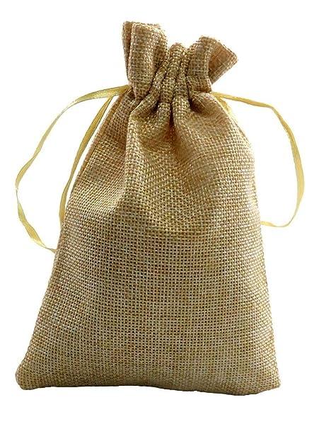 Bolsas de arpillera con cordón bolsas, bolsas de regalo ...