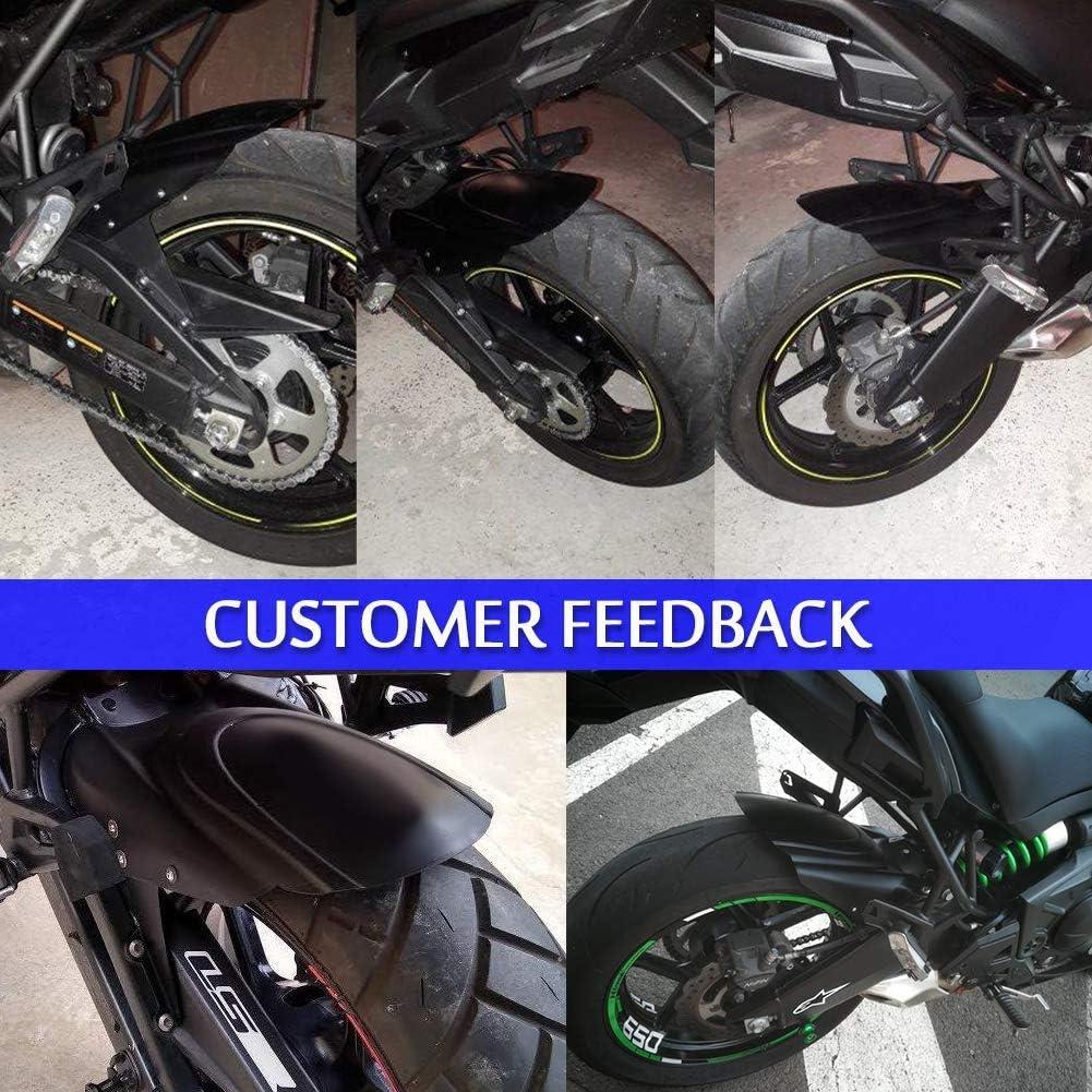 Versys650 KLE650 Accessories Motorcycle ABS Plastic Rear Tire Hugger Fender Mudguard Splash Guard for 14-20 Kawasaki Versys 650 KLE 650 Motorbike Parts 2014 2015 2016 2017 2018 2019 2020 Black