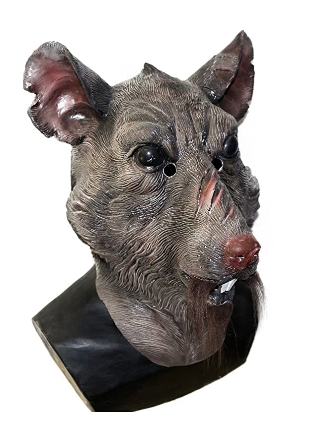 Amazon.com: Máscara de látex con cabeza de rata, disfraz de ...