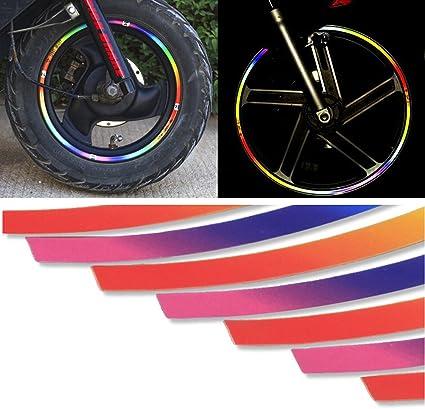 Universal Reflective Car Sticker Wheel Rim Strip Decal Tape For Car four wheel