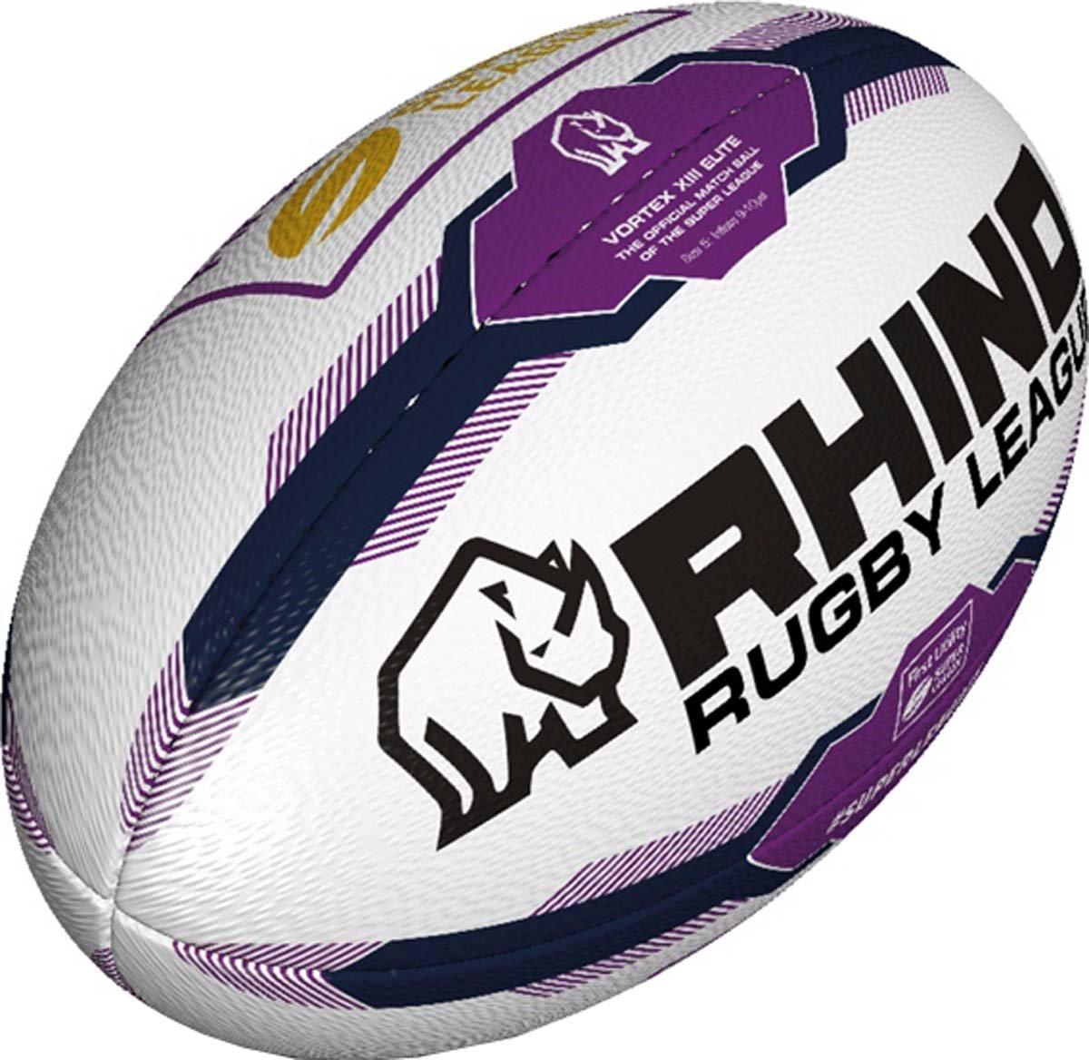 Rhino Super Leagueアウトドアスポーツトレーニング一致& Practiceラグビーボールサイズ4 – 5 B01M7SQGY0  Size 4