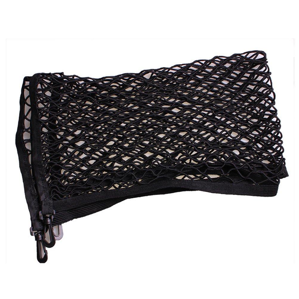 color/é : Noir-Taille unique FuweiEncore Organisateur Coffre Voiture en Maille avec 4 crochets Filet dArrimage de Rangement /Élastique