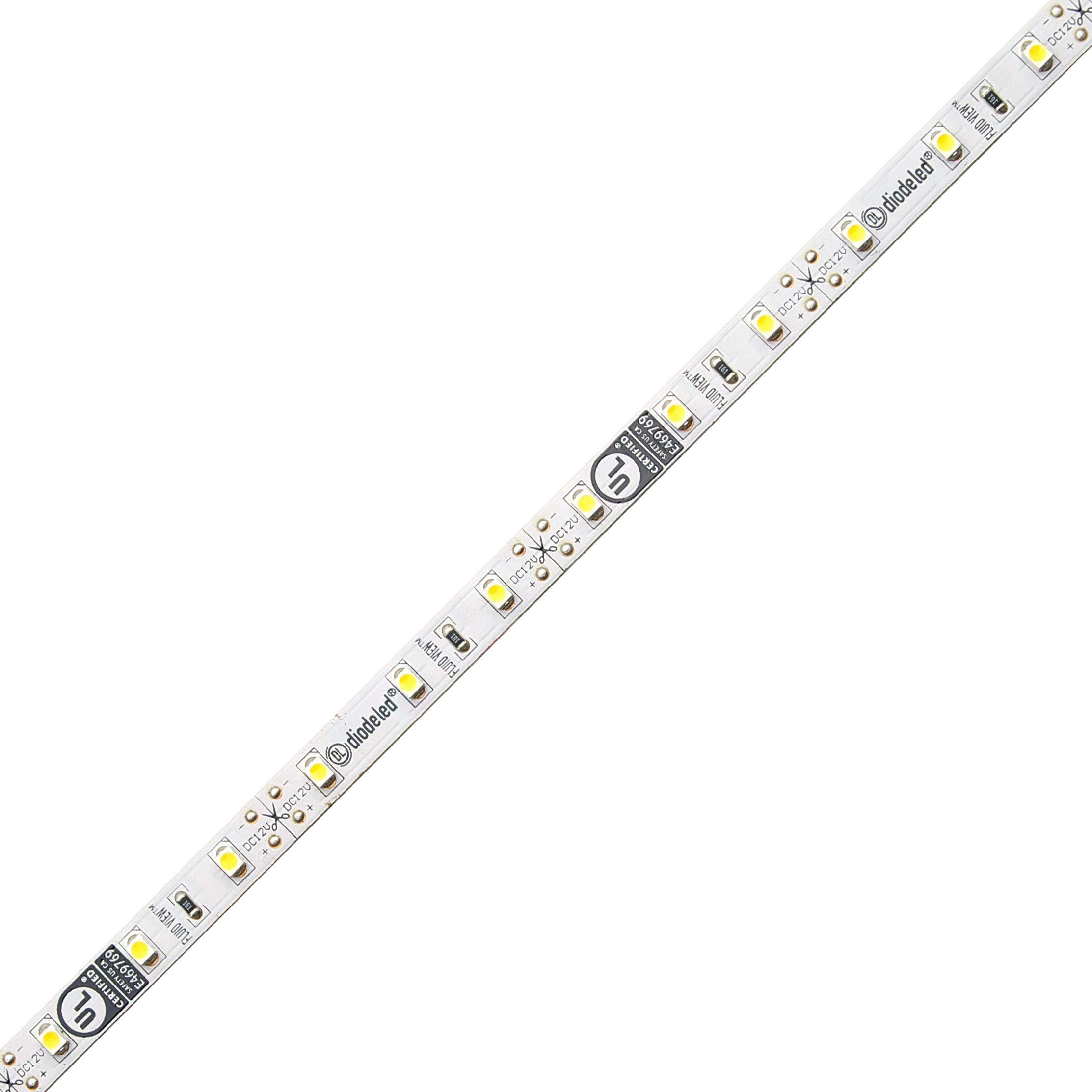 Diode LED Fluid View 12V LED Tape Light 80 CRI 2850K 16.4ft 1.44W/ft