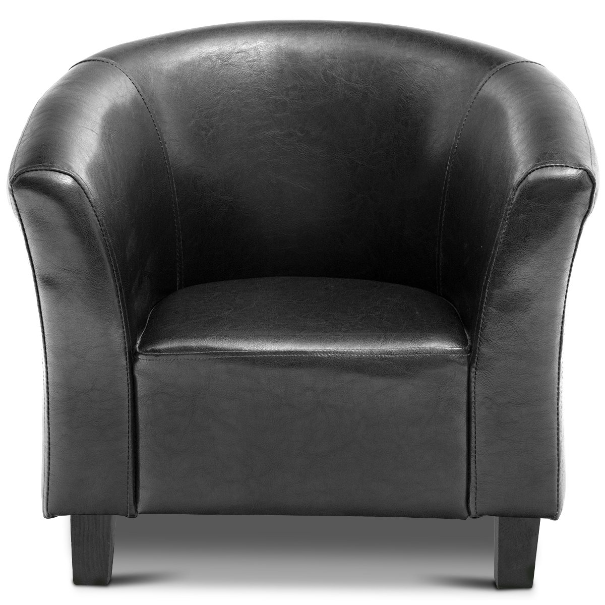 Costzon Kids Sofa Tub Chair Couch Children Living Room Toddler Furniture (PU Leather, Black)
