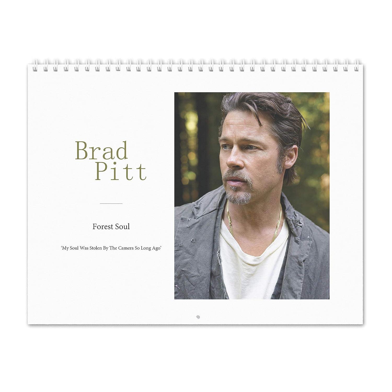 Pitt Calendar 2019 Amazon.: Brad Pitt   Forest Soul 2019 Wall Calendar : Office